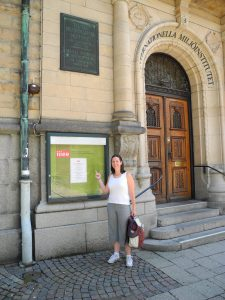 Jessika at the The International Institute for Industrial Environmental Economics at Lund University